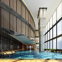 室内景观游泳池