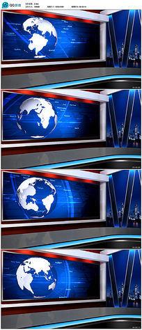新闻虚拟演播室背景视频素材