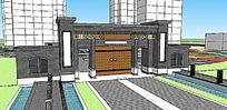 新中式大门入口