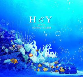 精美海底世界设计 PSD