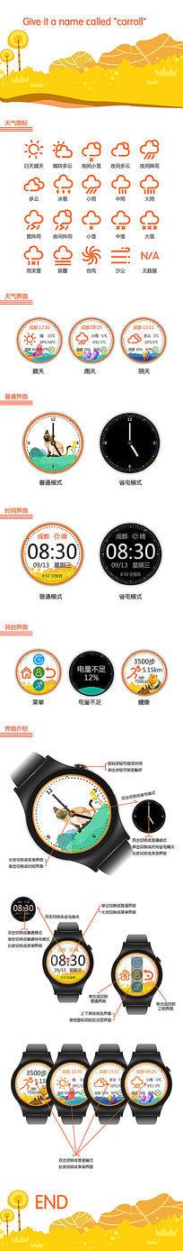智能手表表盘UI界面设计