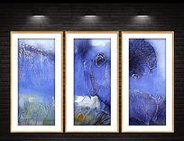 高清现代油画喷绘原稿