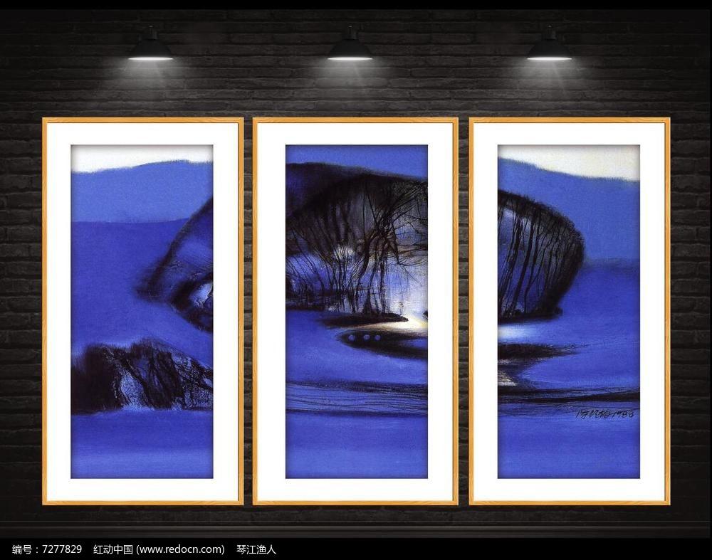 高清现代油画装饰画图片
