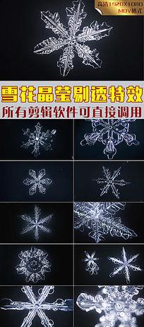 浪漫冬季雪花飘落圣诞节快乐CG动画