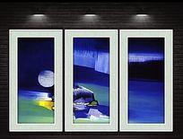 现代抽象装饰画喷绘稿