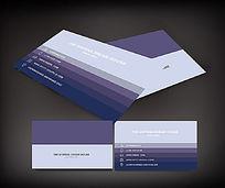 简单个性紫色名片