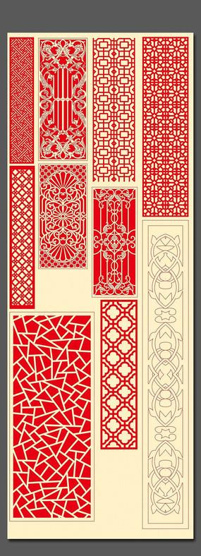 中式雕花圖案素材