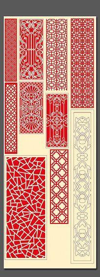 中式雕花图案素材