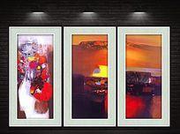 抽象内景现代装饰画