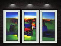 高原山川抽象装饰画