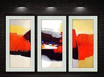 现代笔触抽象装饰画