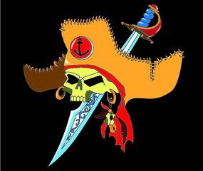 海盗骷髅T恤印花