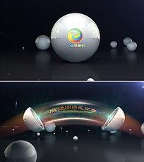 震撼球体音响声波logo标志展示ae模板