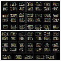 40多套客厅背景墙施工图
