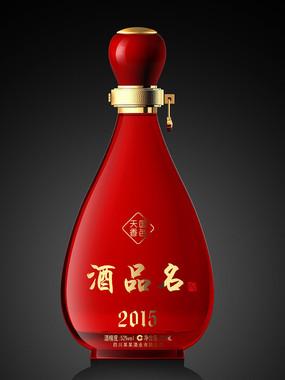 白酒瓶红色