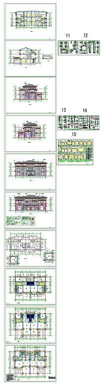 别墅豪宅建筑CAD图纸