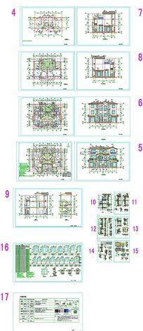 豪宅别墅设计CAD图纸
