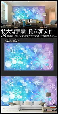 卡通雪花装饰背景墙
