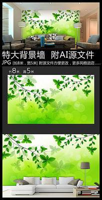 绿树背景墙装饰画