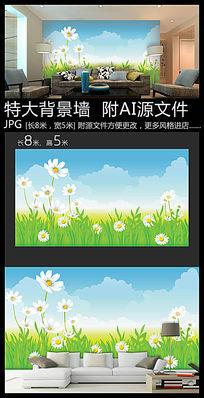 生态鲜花背景墙装饰画