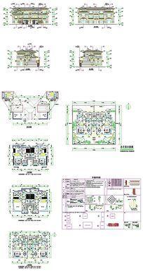 双拼别墅CAD图纸