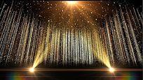大气颁奖金色粒子视频素材