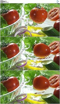 蔬菜黄瓜番茄洋葱实拍视频素材