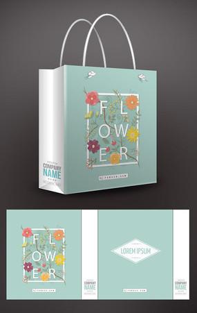 花朵唯美手提袋