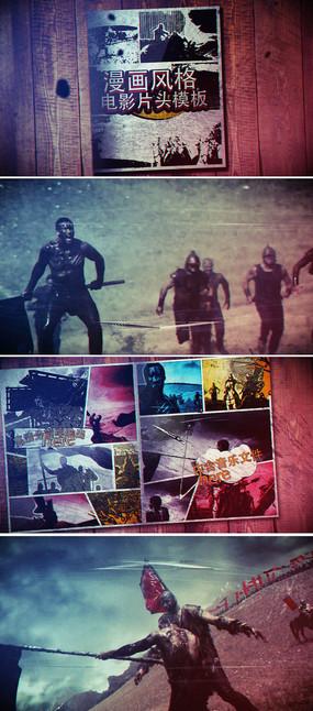 视频画面定格分屏游戏宣传片头模板