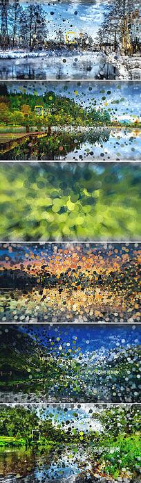 大气粒子汇聚城市风景宣传ae模板