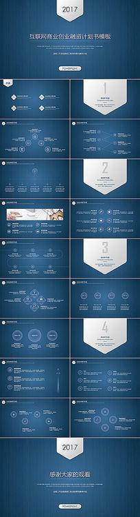 互联网商业创业融资计划书PPT模板