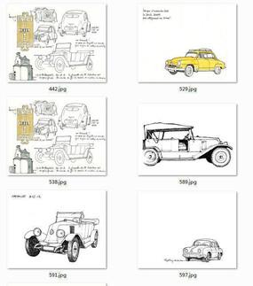 汽车手绘图