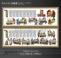 中国风传统火锅文化展板挂画设计