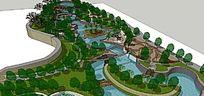 某公园景观模型