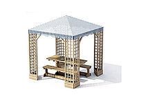 庭院休闲亭子模型
