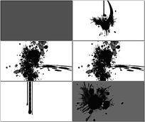 水墨涂鸦笔迹动画视频
