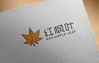 红枫叶logo设计