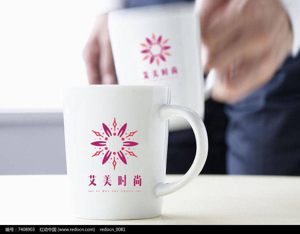 粉色放射时尚logo图片