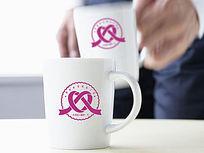 粉色丝带婚礼logo