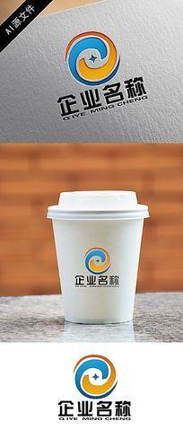 企业环绕星logo创意设计
