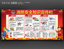 实用消防安全知识宣传栏展板设计