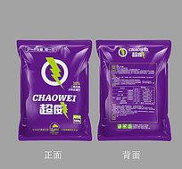 紫色背景水体处理剂包装袋设计