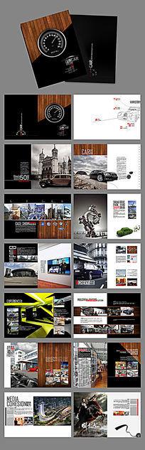创意复古汽车文化园房地产画册