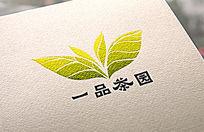 绿色茶园原生态绿色LOGO标志