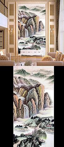 古代客厅画国画玄关壁画