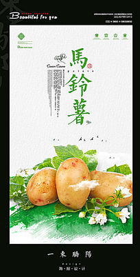 简约创意马铃薯宣传海报设计PSD