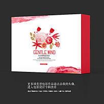 玫瑰花茶唯美水墨中国风茶叶包装设计