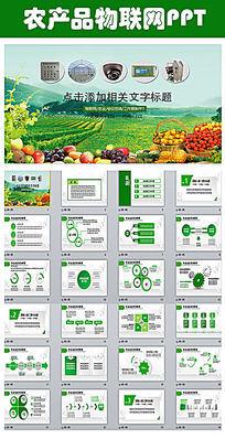 农产品物联网互联网+电子商务PPT模版