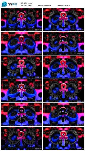 红色色性别图标空间递进led背景视频