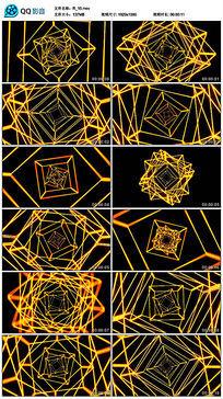 黄色动感劲爆几何四边形线条舞蹈led视频素材